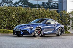Фотография Тойота Голубая Металлик 2019 GR Supra GTS автомобиль