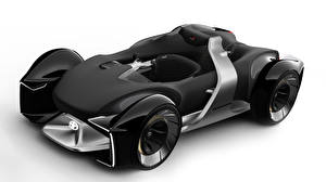 Фото Toyota Формула 1 Белый фон Черные 2019 e-Racer машина