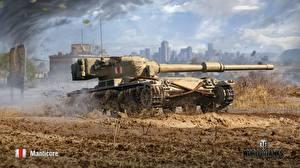 Картинки World of Tanks Танки В грязи Manticore Игры