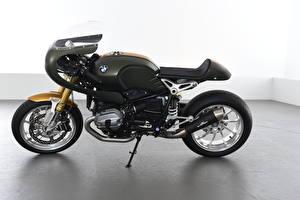 Фотографии БМВ Сбоку Черные 2016-19 AC Schnitzer R nineT Full Race мотоцикл