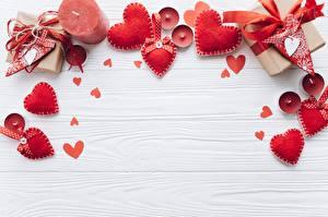 Фотография Свечи День всех влюблённых Сердца Красная Доски Шаблон поздравительной открытки