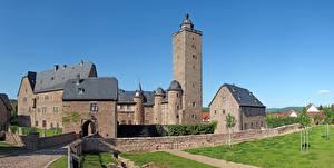 Картинка Замки Крепость Германия Башни Steinau An Der Strasse, Hessen город