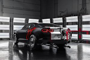 Обои Chevrolet Вид сзади Camaro, COPO 2020 John Force Edition, SEMA 2019 автомобиль