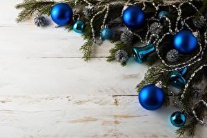 Фото Рождество Ветвь Шарики Шаблон поздравительной открытки