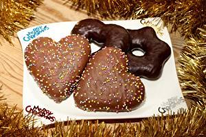 Фотография Новый год Печенье Шоколад