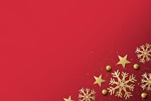 Картинки Рождество Снежинка Красном фоне Шаблон поздравительной открытки