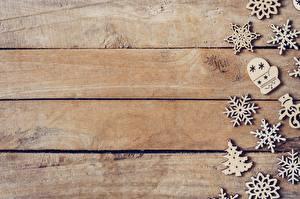 Картинка Новый год Доски Снежинки Деревянный Шаблон поздравительной открытки