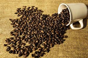 Обои Кофе Кружки Зерна Продукты питания