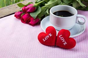 Фотография Кофе День святого Валентина Серце Чашка