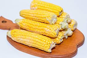 Картинка Кукуруза Крупным планом Разделочная доска