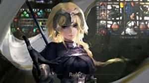Обои Рука Перчатки Блондинка Fate/Grand Order, Jeanne d'Arc, Ruler Игры Девушки Фэнтези