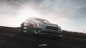 Фотография Ford Forza Horizon 4 Mustang RTR Monster Energy 2019 by Wallpy компьютерная игра Автомобили 3D_Графика