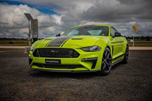 Обои Форд Салатовый Mustang AU-Spec R-Spec 2019 Australia version автомобиль