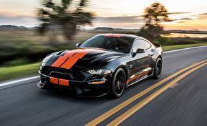 Картинки Ford Размытый фон Движение Черные Полоски Mustang GT-S 2019 авто
