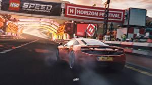 Обои Forza Horizon 4 Макларен Сзади Оранжевый MP4-12C by Wallpy Игры Автомобили 3D_Графика