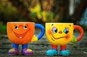 Обои Забавные Кружки 2 Счастье Грусть Смешные