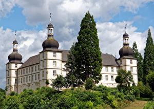 Фото Германия Замок Дерево Schloss Sternberg город