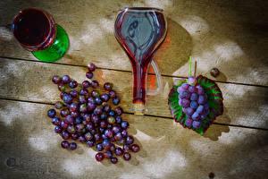 Обои Виноград Вино Бутылка Бокалы Еда