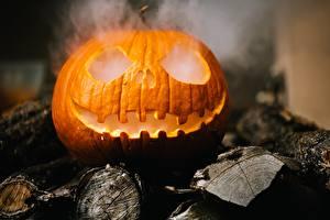 Картинки Хэллоуин Тыква Дымит