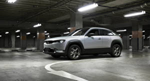 Фотография Мазда Серебристый Кроссовер 2020 MX-30 Worldwide Автомобили