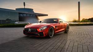 Картинка Мерседес бенц Красные AMG CGI GT R 2019 by Ahmed Anas машины