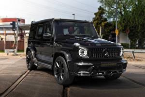 Фотография Мерседес бенц G-класс Внедорожник Черный 2019 Manhart G 700 Inferno Автомобили