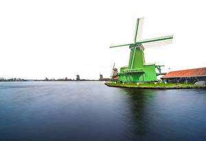 Фотографии Нидерланды Мельница Zaanse Schans