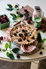 Картинки Выпечка Пирог Ежевика Продукты питания