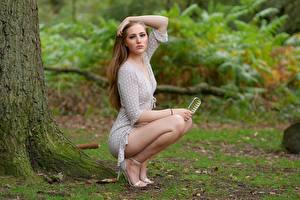Фото Поза Ног Красивые Платье девушка