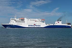 Фотографии Море Корабли Сбоку Brittany Ferries, MV Baie de Seine