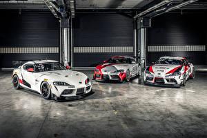 Фото Toyota Стайлинг Трое 3 2019 GR Supra GT4 Concept Автомобили