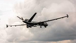 Картинки Беспилотный летательный аппарат Полет Американский MQ-9 Reaper US Air Force Авиация