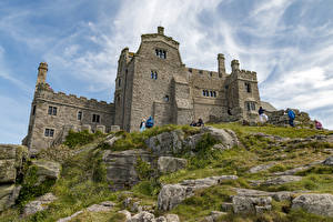 Картинка Великобритания Замок Камни St Michael's Mount