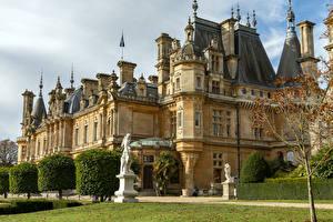 Обои Великобритания Дома Скульптура Особняк Waddesdon Manor город
