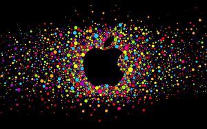 Обои для рабочего стола Apple Логотип эмблема Бренд Шарики