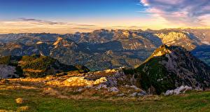 Картинки Австрия Горы Пейзаж Альпы Luppitsch Styria Природа