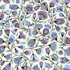 Картинка Птица Текстура Ветка