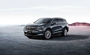 Фотографии Buick Кроссовер Серый Металлик 2019 Enclave автомобиль