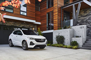 Картинки Buick CUV Белые Металлик 2020 Encore GX ST машины
