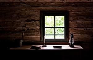 Картинки Свечи Окна Стол Ламп
