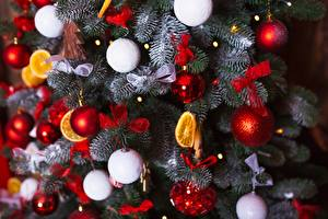 Картинка Новый год Шарики Елка Бантик