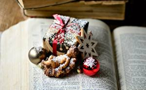 Обои Новый год Книга Звездочки Шарики Подарков