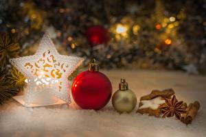 Картинка Рождество Печенье Шарики Звездочки
