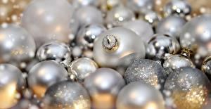 Картинки Новый год Много Крупным планом Шарики Серебристый