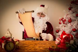 Картинки Рождество Дед Мороз Лист бумаги