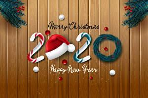 Фото Новый год Доски Английский 2020 Шапки Шарики