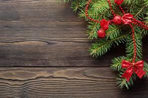 Фотография Рождество Доски Шаблон поздравительной открытки Бантики