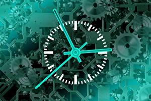 Обои Часы Циферблат Шестеренки Механизмы