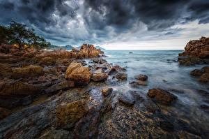 Картинка Берег Таиланд Море Утес
