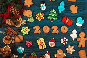 Картинка Печенье Рождество 2020 Шишки Снежинка Новогодняя ёлка